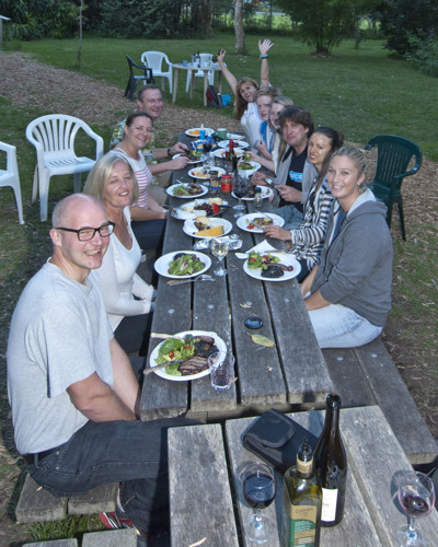Our photo workshop participants enjoy an evening of wine, food and fun.